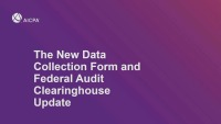 How to Use the Federal Audit Clearinghouse
