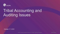Tribal Accounting & Auditing Issues
