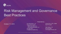 Risk Management and Governance Best Practices