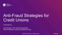 Anti-Fraud Strategies for Credit Unions
