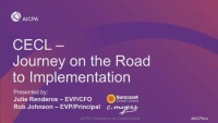CECL - Journey on the Road to Implementation