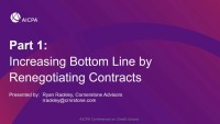 Increasing Bottom Line by Renegotiating Contracts