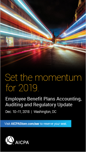 Employee Benefit Plans Accounting, Auditing and Regulatory Update 2018
