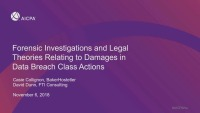 Forensics Investigations and Legal Theories Relating to Damages in Data Breach Class Actions