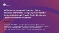 AICPA Accounting and Valuation Guide on PE/VC Part 1
