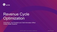 Revenue Cycle Optimization