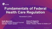 Fundamentals of Federal Health Care Regulation