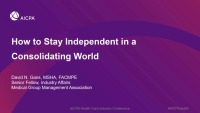 How to Stay Independent in a Consolidating World icon