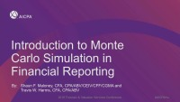 Introduction to Monte Carlo Simulation in Financial Reporting