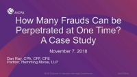 How Many Frauds Can Be Perpetrated at One Time? A Case Study.
