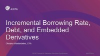 Incremental Borrowing Rate, Dent, and Embedded Derivatives