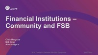 Industry Series 2: Financial Institutions - Community and FSB