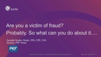 Are You a Victim of Fraud? Probably. So What Can You Do About it...