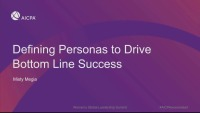 Defining Personas to Drive Bottom Line Success