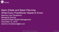 Basic Estate & Basis Planning: What Every Practitioner Needs to Know