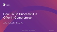 How to be Successful at Offers-in-Compromise
