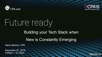 Building Your Tech Stack When New is Constantly Emerging