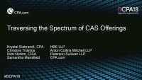 Traversing the Spectrum of CAS Offerings