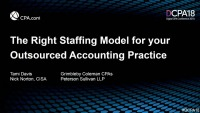 The Right Staffing Model for Your Outsourced Accounting Practice
