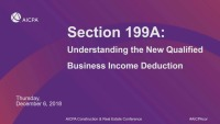 Section 199A - Understanding the New Business Income Deduction