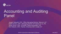 Accounting and Auditing Panel