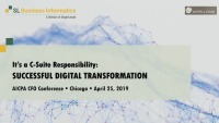 The C-Suite's Role in Success with Digital Transformation Initiatives