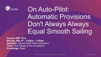 On Auto-Pilot: Automatic Provisions Don't Always Always Equal Smooth Sailing