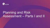 Risk Assessment and Planning Part II