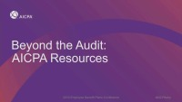 Beyond the Audit: AICPA Resources