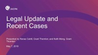Legal Update and Recent Court Cases