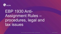 Anti-Assignment Rules - Procedures, Legal and Tax Issues