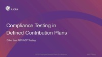 Compliance Testing in Defined Contribution Plans