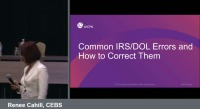 Common IRS/DOL Errors and How to Correct Them (Repeated in Session EBP1964)