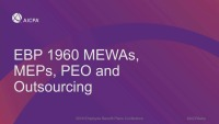 MEWAs, MEPs, PEO and Outsourcing