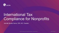 International Tax Compliance for Nonprofits