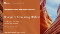 Change of Accounting Method