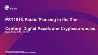 Estate Planning in the 21st Century: Digital Assets and Cryptocurrencies