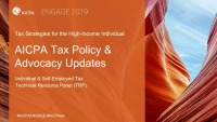 2019 Individual Tax Reform and Advocacy Updates