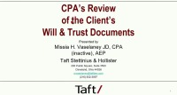 Review of Documents