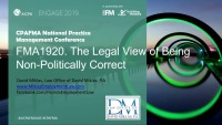 The Legal View of Being Non-Politically Correct