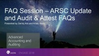 ARSC Update & Audit and Attest FAQ