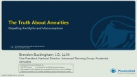 The Truth About Annuities: Dispelling the Myths and Misconceptions - Sponsored by Prudential Annuities