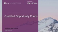 New Qualified Opportunity Funds
