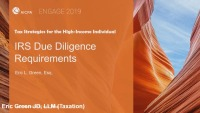 IRS Due Diligence Requirements