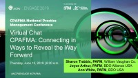 CPAFMA: Connecting in Ways to Reveal the Way Forward