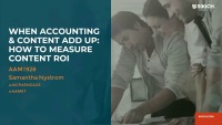 When Accounting and Content Add Up: How to Measure Content ROI