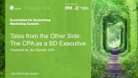 Tales from the Other Side: The CPA as a BD Executive