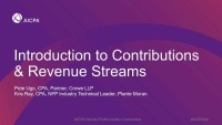 Introduction to Contributions & Revenue Streams