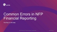 Common Financial Statement Errors in NFP Entities