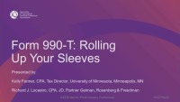 Form 990-T:  Rolling Up Your Sleeves